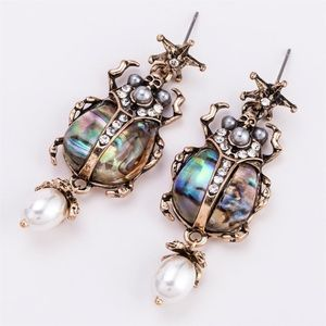 Exotic Scarab Post Earrings NWT-